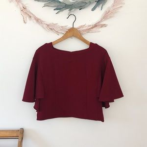 Anthro. Eri + Ali Cropped Blouse